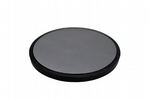 "Solid Steel Round 5"" Dapping Bench Block Anvil Plate with Removable Rubber Base. J2117"